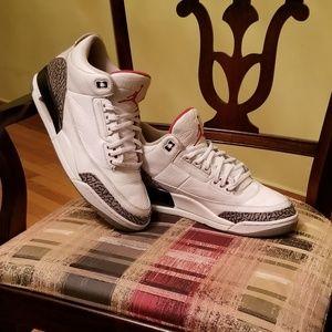 Jordan White Cement 3 size 12